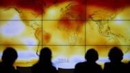 Simulation der Erderwärmung.