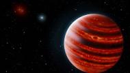 """Jupiterähnlicher Exoplanet """"51 Eridani b"""" als Illustration"""