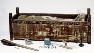 Sarkophag von Tadja, einer der in Abusir el-Meleq entdeckten Mumien mit den Grabbeigaben.
