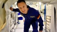 Matthias Maurer im irdischen Columbus-Modul der ISS