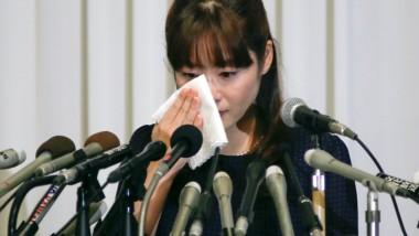 Haruko Obokata in der Pressekonferenz: Berufung abgelehnt.