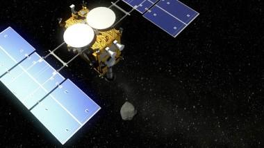 Die Raumsonde Hayabusa2 soll 2018 auf einem Asteroiden niedergehen.