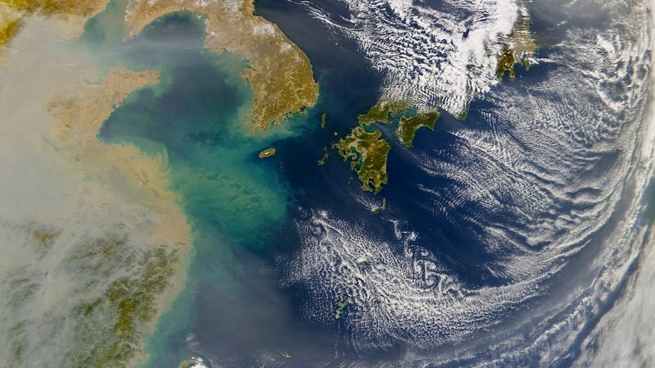 Lagert sich der ostwärts ziehende Staub aus China am Meeresboden ab, archiviert er die Klimageschichte der Erde.
