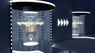 Künstlerische Darstellung der Quantenteleportation