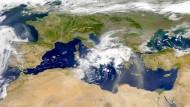 Das Mittelmeer, von einem Sateliten aus gesehen