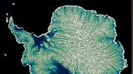 Gletscherströme: Antarktische Halbinsel (links)