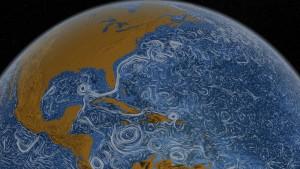 Blau-weißes Meeresrauschen aus dem Supercomputer