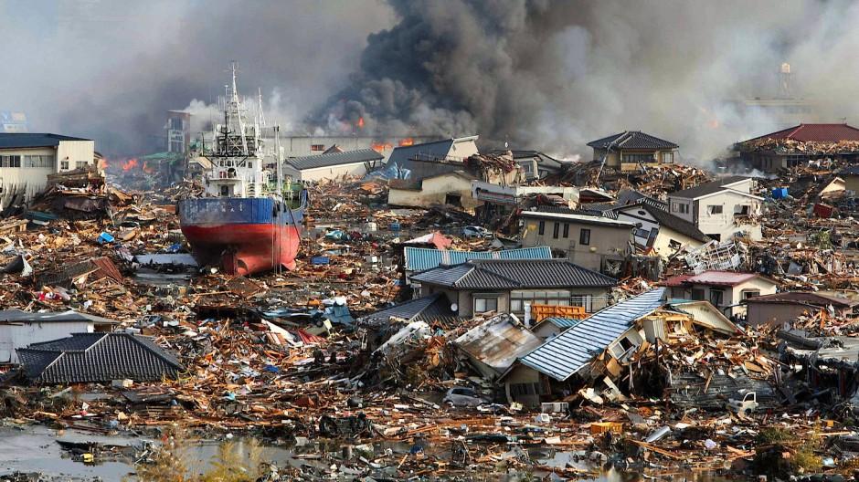 Der Tsunami am 11. März 2011 mit dem vorausgegangenen starken Erdbeben mit der Magnitude 9 richtete an vielen Orten Japans große Schäden an.
