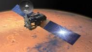 ExoMars 2016- Der Spurengas-Orbiter umkreist den Roten Planeten und analysiert dessen Atmosphäre. Auf den Rover muss die Sonde noch zwei Jahre länger warten.