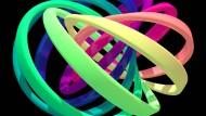 Illustration eines Quantenknotensder keinen Anfang und kein Ende besitzt.