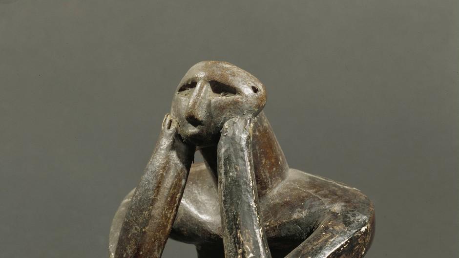 """Der """"Denker aus Cernavoda"""". Spitzenkunst aus dem sechsten Jahrtausend vor Christus."""