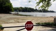 Pegelstände auf Rekordminimum: Das Morse Reservoir in Noblesville, Indiana.