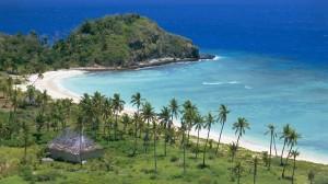 Die Küste von Mana Island, einer kleinen Fiji-Insel im Südpazifik: Vor allem tropische Gebiete dürften von Überschwemmungen betroffen sein.