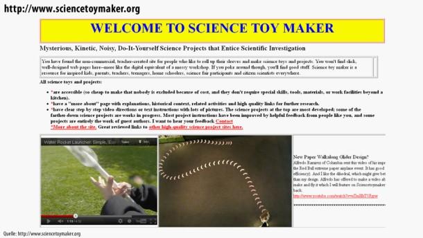 Infografik / Netzrätsel / http://www.sciencetoymaker.org