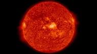 Sonne in Ultraviolett
