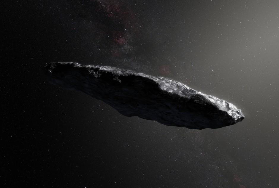 Von 'Oumuamua gibt es keine guten Fotos, dafür aber dieses Gemälde.