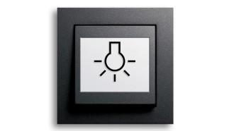 Symbole auf der Bedienwippe erleichtern das Erkennen des richtigen Schalters.