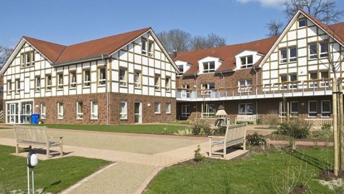 Das Haus Eichhof in Hambergen in Niedersachsen ist ein architektonischer Hingucker.