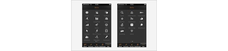 F.A.Z. iPhone-App Servicefunktionen im Überblick
