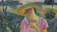 """Conrad Felixmüllers Öl-Porträt seiner Frau """"Londa mit der Heckenrose"""" von 1927 (Taxe 90.000/120.000 Euro)."""