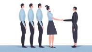 Die meisten Kollegen finden am ersten Tag in der Regel zunächst nur Zeit für einen kurzen Handschlag oder ein freundliches Nicken im Vorbeilaufen.