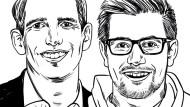 """Johannes Dick ist Leiter Konzernentwicklung bei Axa Deutschland in Köln und Mitinitiator des """"Axa Innovation Campus"""". Der """"Axa Innovation Campus"""" sucht gezielt nach Gründerideen, die das Potential haben, das Thema Versicherung neu zu denken. Felix Swoboda ist Geschäftsführer des Onlineanbieters für Handwerkerdienstleistungen Homebell. Er gründete sein Berliner Start-up im Oktober 2015."""