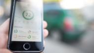 Die Nutzeroberfläche einer App, die Details zum Fahrprofil des Nutzers aufzeichnet. Künftig könnte das Smartphone wichtige Daten wie Bremswege und Beschleunigung erfassen und an Versicherer übermitteln.