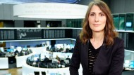 Profi auf dem Börsenparkett: Moderatorin Anja Kohl.