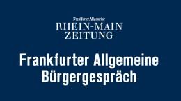 Frankfurter Allgemeine Bürgergespräch am 16. Dezember