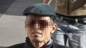 Der ehemalige RAF-Terrorist Christian Klar auf dem Weg ins Gerichtsgebäude