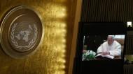 Papst spricht vor UN-Vollversammlung
