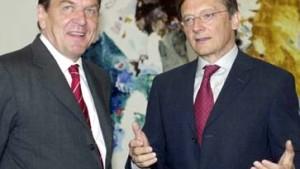 Schröder wird von Schüssel freundlich empfangen