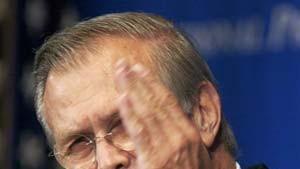 Rumsfeld kommen Zweifel am Kriegsgrund