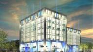 So soll die geplante Zentrale von Fiat in Frankfurt aussehen