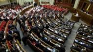 Das ukrainische Parlament in Kiew am Donnerstag