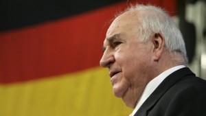 Respekt, aber kein Ehrenvorsitz für Kohl