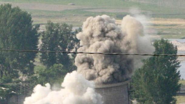 Nordkorea stoppt Abbau von Atomreaktor