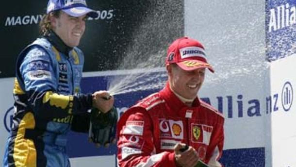 Schumacher vor dem Sturz vom WM-Thron