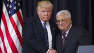 Trump verspricht vollen Einsatz für Nahost-Frieden