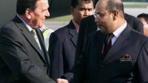 Malaysia freut sich auf Schröders Besuch