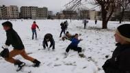 Schneeballschlacht in Syrien