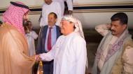 Luftangriffe auf Houthi-Rebellen - Hadi in Saudi-Arabien