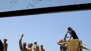 Die Rebellen in Bab al Azizija