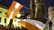 Erste Demonstration von Pegida in Wien