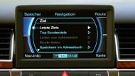 Führt um den Stau herum zum Ziel: MMI im neuen Audi A8