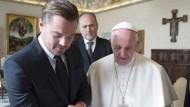 Leonardo DiCaprio zu Besuch beim Papst