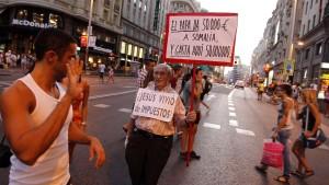 Demonstrationen gegen den Papst
