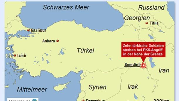 Zehn Soldaten sterben bei PKK-Angriff