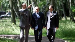 Putin, Schröder und Chirac: Zusammenkunft mit Tradition