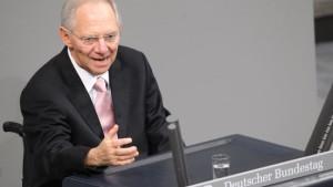 Schäuble: Wir schwimmen nicht im Geld...